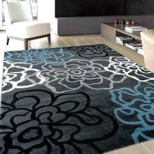 gray and white rug fl area contemporary modern flowers rugs 3 grey blue new black red