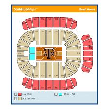 Reed Arena Seating Chart Texas A M University Reed Arena College Station Event