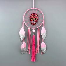 Mexican Dream Catcher Sugar Skull Dreamcatcher Hanging Decoration Boketto Box 71