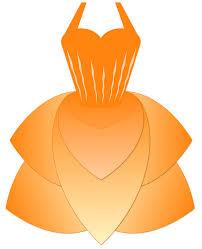 orange clipart png. dress, princess, orange princess girl clipart png