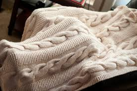 Cable Knit Throw Blanket Pattern