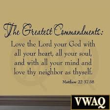 the greatest commandments love thy neighbor christian wall art bible quotes decals vwaq 617 on bible verses about love wall art with the greatest commandments love thy neighbor christian wall art bible