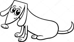Vrouwelijke Hond Kleurplaat Stockvector Izakowski 80064846