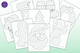 Obviously, you can use anything you like for markers including bingo daubers, pattern blocks, m&ms, even pom poms. 15 Free Christmas Dot Marker Printables No Prep Activity For Kids The Artisan Life