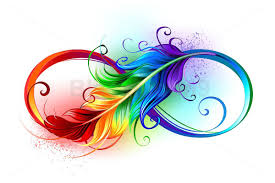 Feather Graphic Design Infinity Symbol With Rainbow Feather Feather Tattoo Design