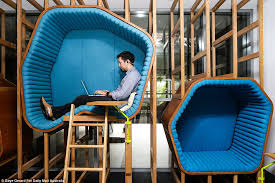 google office in uk. Different Shaped And Sized Pods Are Hung On The Walls For Staff Members To Have Some Google Office In Uk U