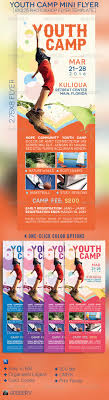 kids summer camp trifold brochure summer graphics and design youth camp mini flyer template by michael taylor via behance