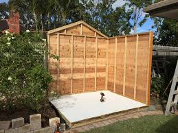 garden shed first two panels