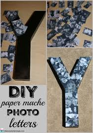 diy graduation gifts for boyfriend this diy paper mache letters collage is easy to make and