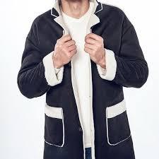 lasperal british slim single ted male windbreaker mens vintage trench coat mens long coat fur collar