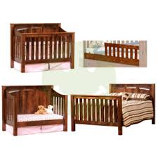 convertible baby cribs. Solid Wood Cribs: Amish 4 In 1 Convertible Crib Mission Baby Cribs