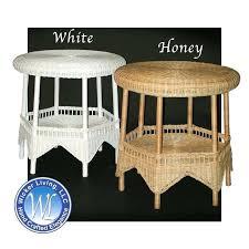 round wicker table round wicker end table wicker bistro table set