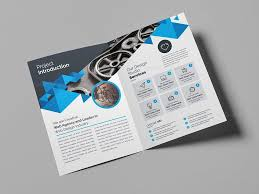 Brochure Templates For It Company Corporate Company Bifold Brochure Template Graphic Templates