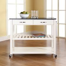 Kitchen Island Open Shelves Kitchen Rolling Kitchen Island With Unusual Top For White