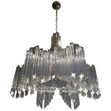 gorgeous mid century italian glass six arm chandelier camer