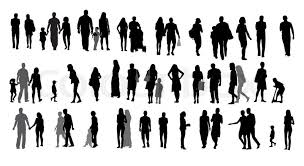 Impressive Architecture People Simple Set Of Silhouette Walking With Intended Innovation Design