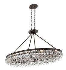 crystorama 279 vz calypso 8 light crystal teardrop vibrant bronze oval chandelier