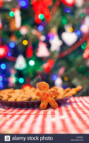 Candy Christmas Lights Gingerbread Man Background Candy Ginger House And Christmas