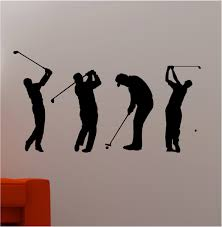 amazing set of four golf wall art black sticker vinyl on white wall orange chair for on golf wall art near me with wall art amazing sample pictures golf wall art outdoor golf wall