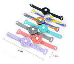Pop It Silicone Wristbands Hand Spinner Fidget Bracelet Poppers Gyro Push  Bubble Sensory Toy - China Fidget Poppers and Fidget Wristbands price    Made-in-China.com