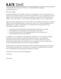 social services cover letter exles