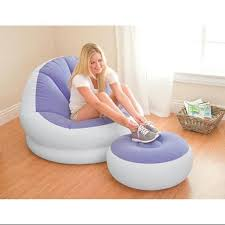 intex inflatable furniture. Get Quotations · INTEX Inflatable Colorful Cafe Chaise Lounge Chair W/ Ottoman - Purple | 68572E Intex Furniture