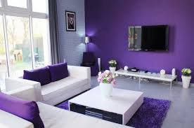 Purple black living room