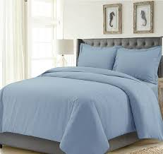 tribeca living madrduvetqusk madrid solid oversized duvet cover set queen sky blue b074c8klw5
