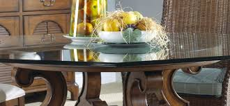 dining tables round glass dining table wood base modern home furniture appealing piece with pedestal