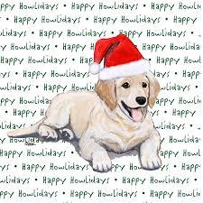 golden retriever dog coasters christmas themed puppy