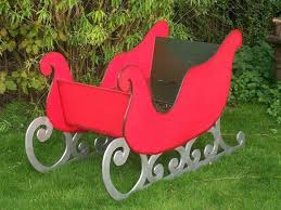 full size santa sleigh image 0 life metal large wooden to sit in prop photo