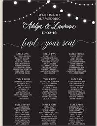 wedding table size chart. this seating chart uses an alphabetical approach to write down the name of guests and table which they belong. a classy sample for medium size wedding o