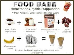 food s homemade organic frappucino