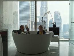 grand hyatt kuala lumpur large tub in bathroom of suite 2704