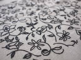 生徒さんの作品 No056フリーステッチ Linen Needlework