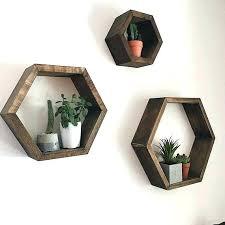 honeycomb wall decor set of 3 hexagon shelves shelf acrylic honeyco