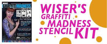 wiser s graffiti madness stencil kit