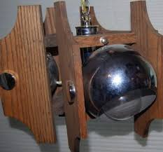 1 of 4 mid century modern chrome ball wood chandelier light fixture vintage kovacs
