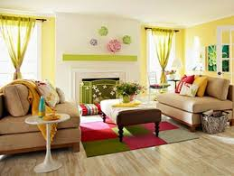 Wonderful Bright Color Combination For Sitting Room Decor Ideas ...