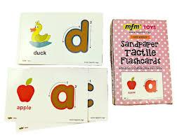 Amazon Com Mfm Toys Sandpaper Tactile English Letters