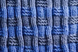 Close Up Zelfgemaakte Woven Haak In Blauw En Grijs Met Verticale