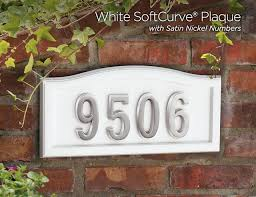 White Address Softcurve Address Plaques Numbers Gaines Manufacturing