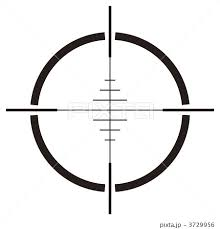 照準 レティクル スコープ ドットサイトのイラスト素材 Pixta