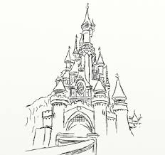 disney castle coloring pages new gothic castle drawing at getdrawings gallery