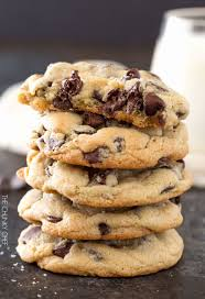 gooey chocolate chip cookies. Simple Gooey Salted Chocolate Chip Cookies  Thick Chewy Chocolate Chip Cookies That  Are Perfectly Crisp On For Gooey O