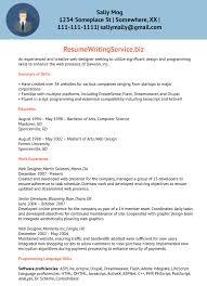 web designer resume sample resume writing service after