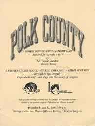 women s history month zora neale hurston dramas library of program from the 2000 premiere of polk county at the library