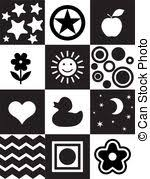 black and white pictures for babies printable newborn printable toy infant visual stimulation patterns black and