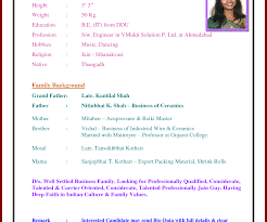 resume format for marriage proposal marriage biodata format for christian girl easy biodata