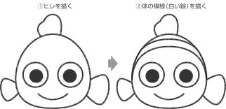 ニモのイラストの簡単な書き方ファインディングニモ